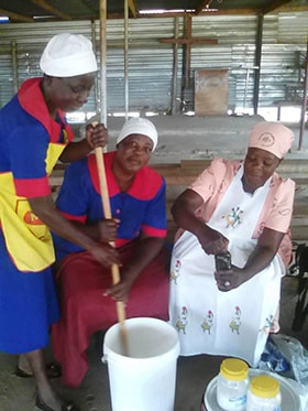 Women from Granary United Methodist Church in Harare, Zimbabwe, learn to make soap to sell during tough economic times. Photo by Chenayi Kumuterera, UM News.