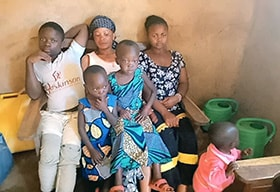 Mummy Muhindo lost her husband, United Methodist evangelist Kazimirif Muhindo, to Ebola. The mother of five said she has had difficulty coping on her own after her husband's death. Photo by Nathanaël Mussa.