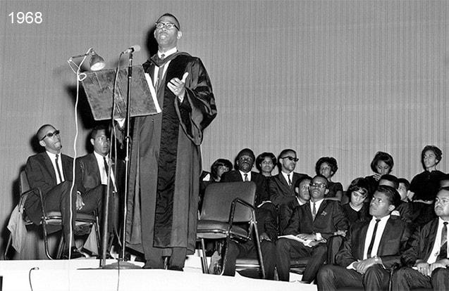 1968년 총회에서 제임스 토마스 감독이 설교하고 있다. 사진, 연합감리교회 교회역사보존위원회 제공.