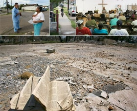 Ten years after Hurricane Katrina devastated New Orleans and the Gulf Coast, hundreds of thousands of United Methodists have volunteered or donated money for the cleanup. In this slideshow, photographer Mike DuBose pairs photos from immediately after the storm with images that show how far the recovery has come a decade later.