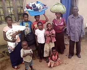 A displaced United Methodist family takes refuge in Beni, Congo. United Methodist churches in the Beni District are assisting those who have fled their homes following recent attacks in the region. Photo courtesy of the Beni District.