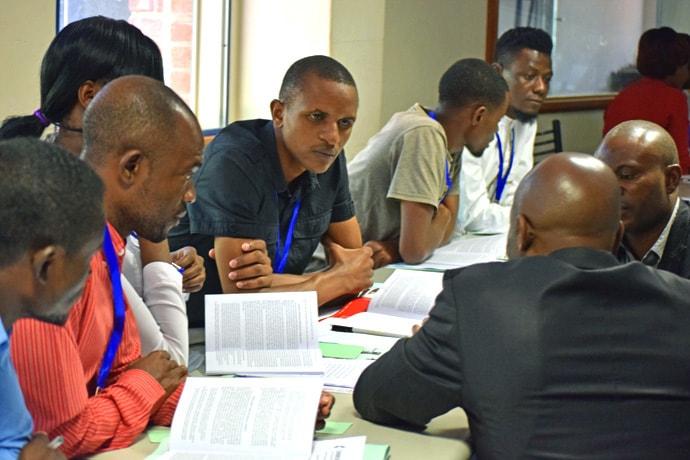 Une consultation sur les principes Sociaux a été organisée à Africa University de Old Mutare, au Zimbabwe. Photo gracieusement fournie par le Conseil Eglise et Société de l'Eglise Méthodiste Unie.