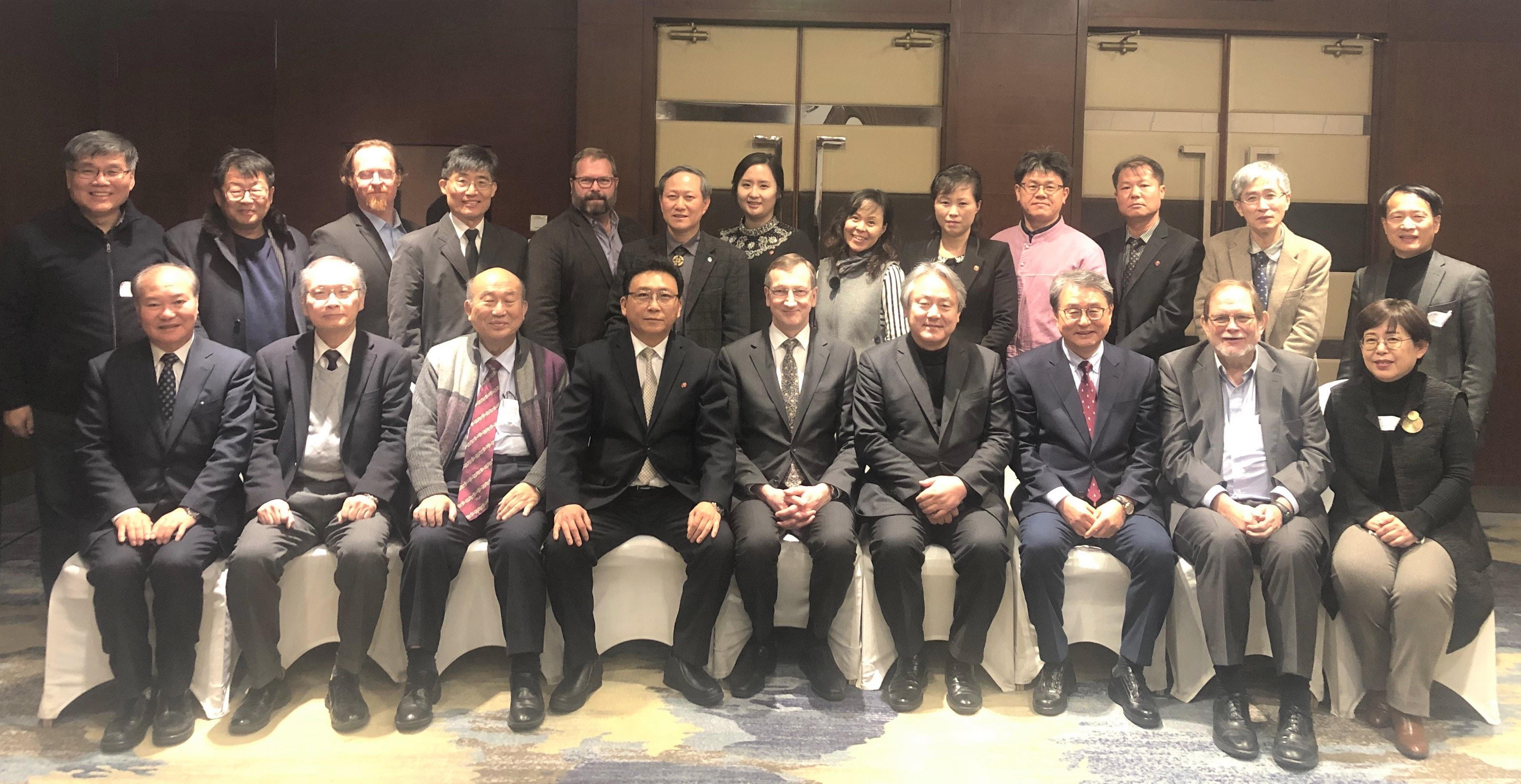 <한반도 평화, 통일 및 개발과 협력을 위한 에큐메니칼 포럼(EFK)> 실행위원회에 참석한 사람들. 사진 제공, 한국기독교교회협의회.