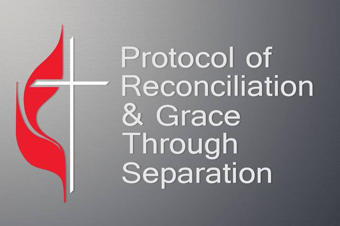 "A diverse, 16-member group of United Methodist bishops and other leaders offered a proposal that would preserve The United Methodist Church while allowing traditionalist-minded congregations to form a new denomination. The nine-page ""Protocol of Reconciliation & Grace Through Separation"" was released Jan. 3. Graphic by Laurens Glass, UM News."