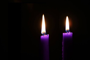 Watch Night candles. Photo by Steven Adair, United Methodist Communications.
