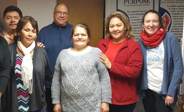 Participantes del grupo focal de habla hispana celebrado en la Iglesia Metodista Unida de Humboldt Park en la ciudad de Chicago. Foto cortesía de Teresa Faust, UMCOM.