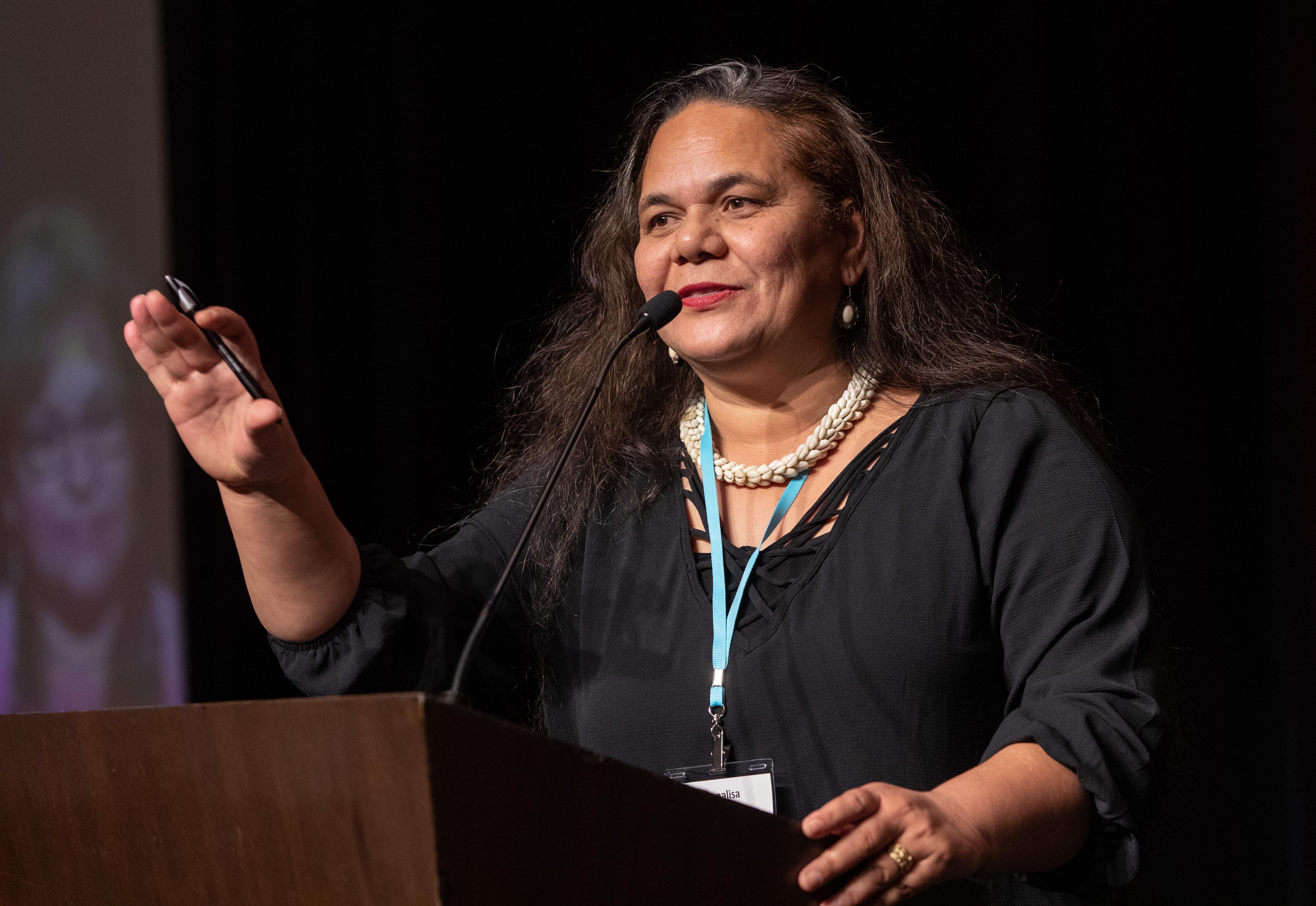 Monalisa Tuitahi, Directora Ejecutiva el Caucus Nacional de las Comunidades Isleñas del Pacífico. Foto Mike BuBose, Noticias MU.