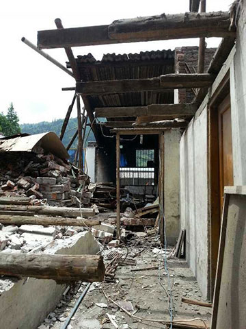 Nearly 200 people were killed in the May 20 earthquake in China's Sichuan Province. Photo courtesy of the Amity Foundation.
