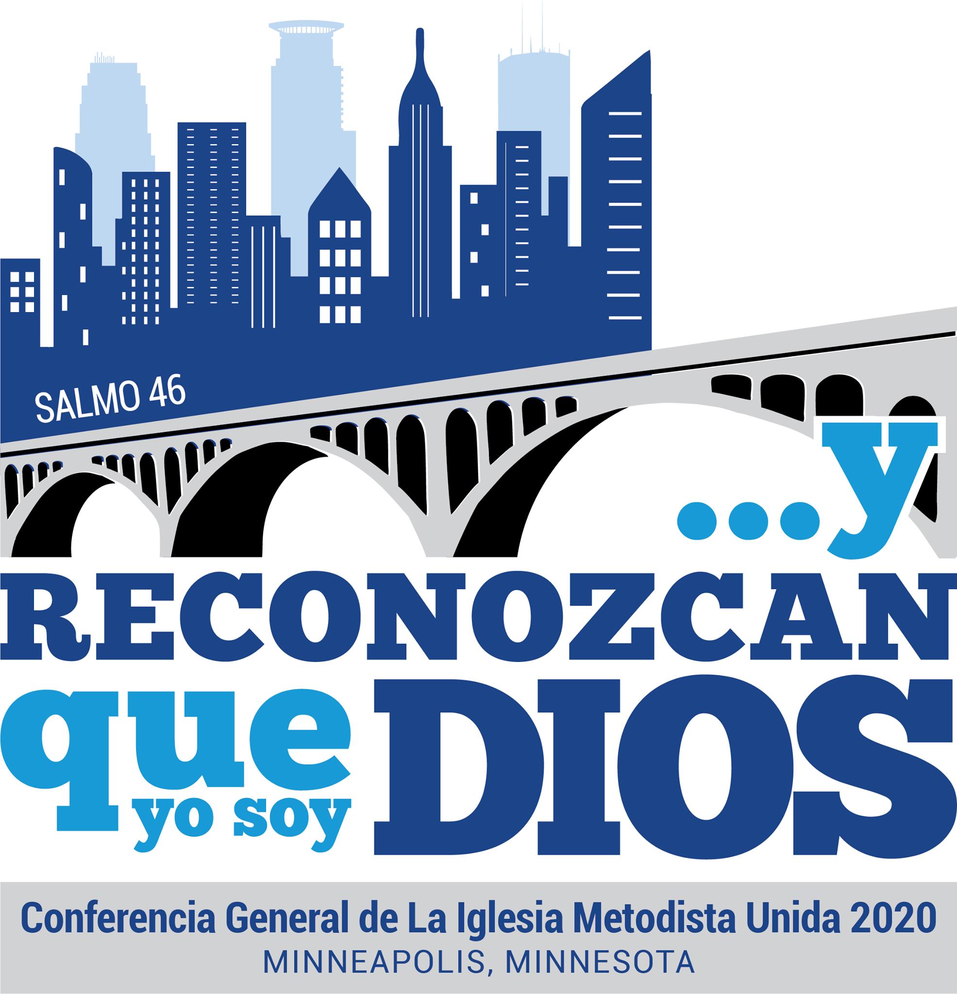 El logotipo oficial de la Conferencia General de 2020 de la IMU. Gráfico cortesía de Comunicaciones Metodistas Unidas.
