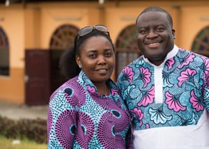 United Methodist missionary couple Francine Mpanga Mufuk (left) and the Rev. Jean Claude Masuka Maleka have been married for 18 years.