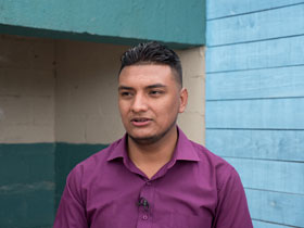 The Rev. Héctor Mauricio Rodríguez Lainez, pastor at Aposento Alto United Methodist in Fuerzas Unidas, Honduras, often goes walking around his dangerous neighborhood.