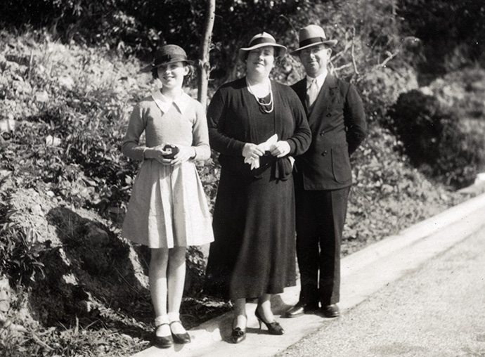 Walter Brooks Foley and Mary Rosengrant Foley, missionaries with the Methodist Board of Foreign Missions, are pictured here with daughter Frances Helen Foley in Hong Kong in 1937. File photo courtesy of Kenneth J. Guest.