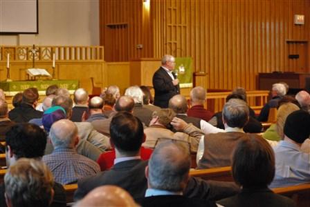 Keith Boyette, presidente y vicepresidente de la WCA, habló sobre la historia y la filosofía de la WCA. Foto cortesía de la Conferencia Anual de Kentucky