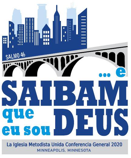 Logo da Conferência Geral de 2020 da Igreja Metodista Unida. Gráfica cortesia das Comunicações Metodistas Unidas.