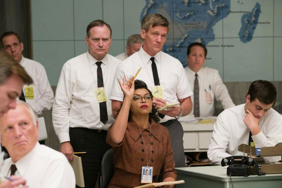 "Taraji P. Henson played Katherine G. Johnson in the movie ""Hidden Figures."" In this scene, Johnson makes one of many key contributions to the effort to send John Glenn into orbit. Photo by Hopper Stone, ""Hidden Figures"" (20th Century Fox)"