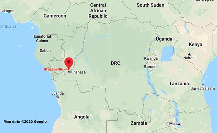 Brazzaville, la capitale de la République du Congo, est située le long du fleuve Congo, en face de Kinshasa, la capitale de la République démocratique du Congo. L'évêque du Congo central, Daniel Lunge, travaille avec les dirigeants locaux pour établir la première présence de l'Église Méthodiste Unie en République du Congo. Données cartographique Google ©2020.