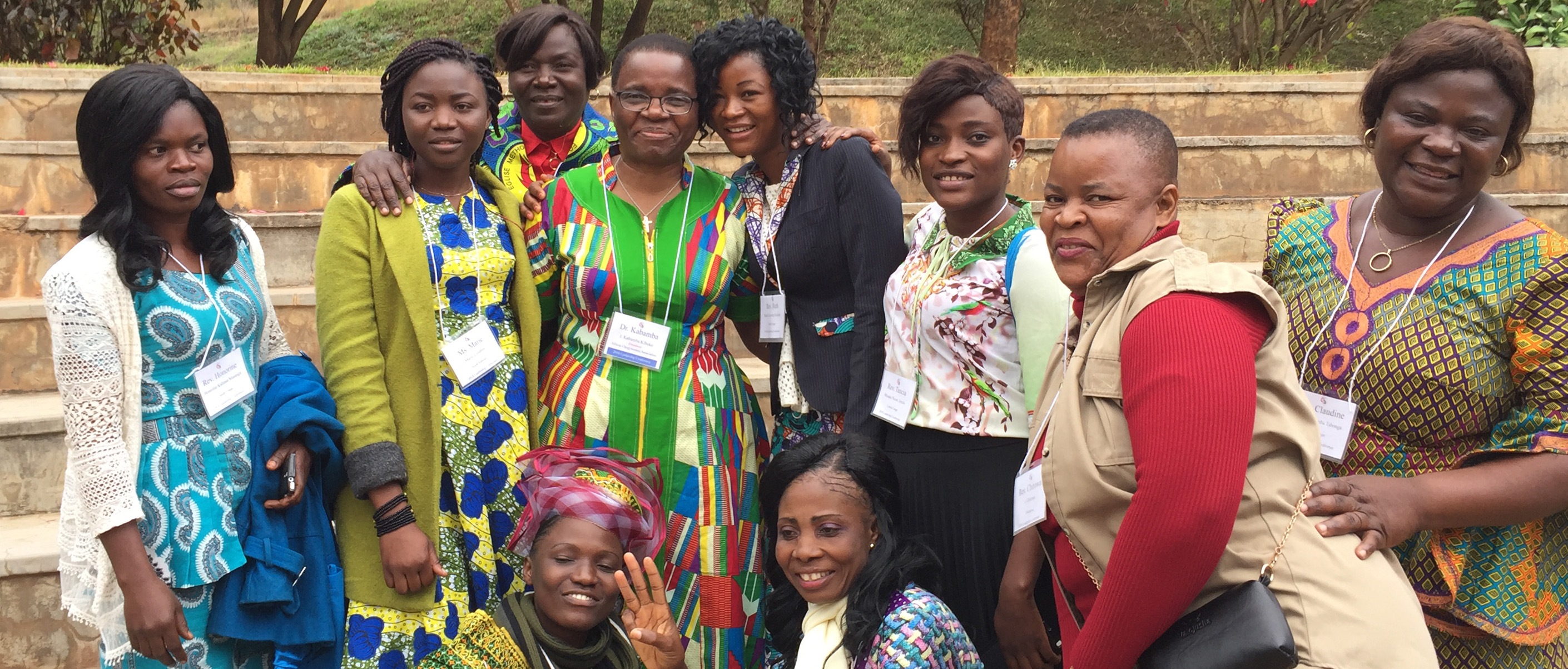 The Rev. J. Kabamba Kiboko, fourth from left, top row, gathers with other participants at the 2018 leadership development conference for African United Methodist clergywomen. Kiboko and retired United Methodist Bishop Linda Lee are leading the planning for a 2022 gathering at Africa University. Photo by Kalamba Kilumba.