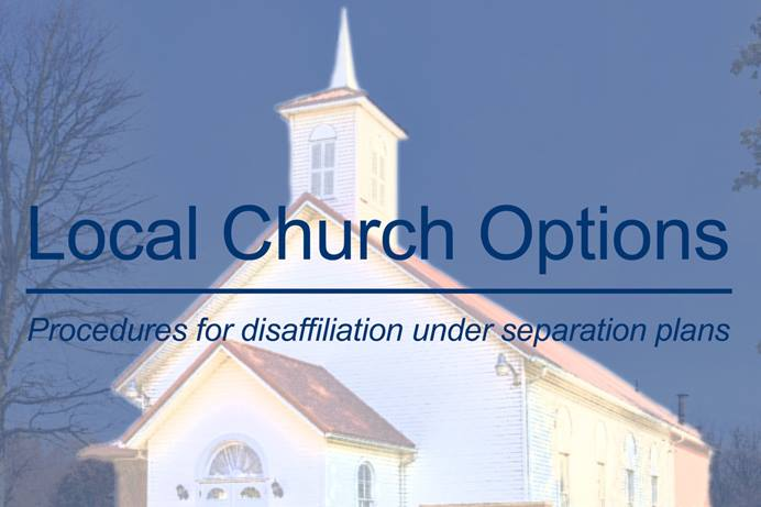 Local churches could have painful decisions to make, depending on the outcome of the 2020 General Conference. Delegates to the conference will look at several proposals to split the church along traditional, progressive and centrist lines, with differing policies on LGBTQ clergy and same-sex marriage. Photo by William Sturgell, courtesy of Pixabay; graphic by Laurens Glass, UM News.