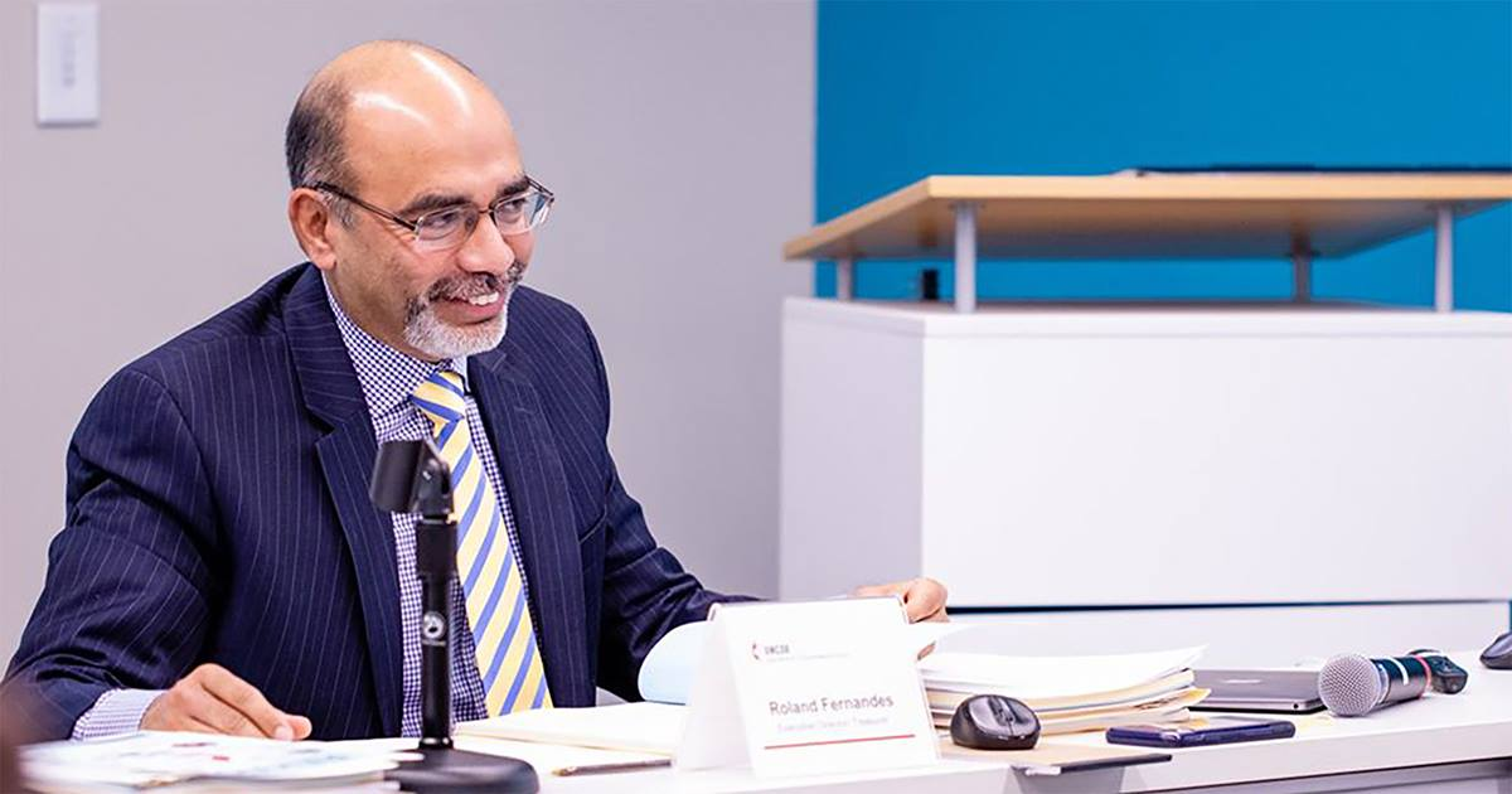 Roland Fernandes sucederá en el cargo a Thomas Kemper, quien ha servido durante una década y decidió no ir a la reelección. Foto cortesía de GBGM.