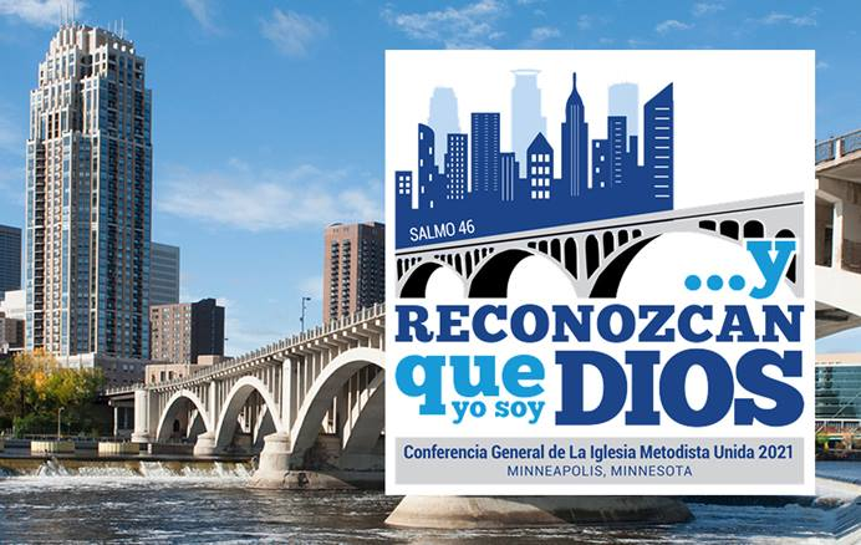 La Comisión resolvió continuar con la sede en el Centro de Convenciones de Minneapolis para la reunion del proximo año. Fotocomposición en español UMCOM.