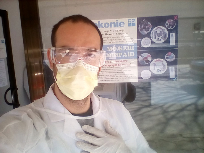 Martin Konev is project coordinator for diaconal social work ministries and helps direct response to the coronavirus for The United Methodist Church in Macedonia. Photo courtesy of The United Methodist Church in Macedonia.
