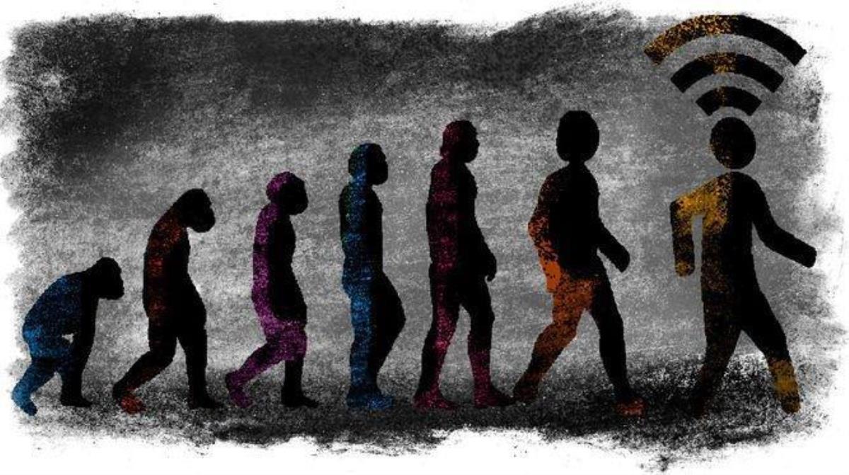 유발 노아 하라리의 저서 <호모 데우스>에 나오는 인간의 변화 과정을 설명한 이미지, 디아리오 드 세빌라 .
