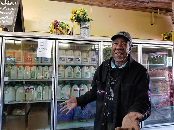 Jon Morris is a volunteer in the All People's Fresh Market in Columbus, Ohio. The program has distributed free produce to more than 2,000 households every week for over 10 years. Photo courtesy of the Church for All People.