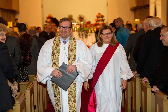 The Revs. Drew Dyson and Diane Dyson are a United Methodist clergy couple in the Greater New Jersey Conference. She's a deacon whose main work is as a hospital nurse, and she's lately been treating COVID-19 patients. He's an elder who currently serves as executive director of a seniors' resource center. Photo courtesy of Drew Dyson.