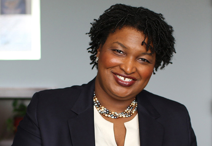 """Stacey Abrams, shown in this 2014 file photo, urged United Methodists to """"do right by the earth,"""" during the Festival of Homiletics, which was held online because of COVID-19. Abrams attends Columbia Drive United Methodist Church in Decatur, Ga., and is the daughter of two United Methodist elders. File photo courtesy of Stacey Abrams."""