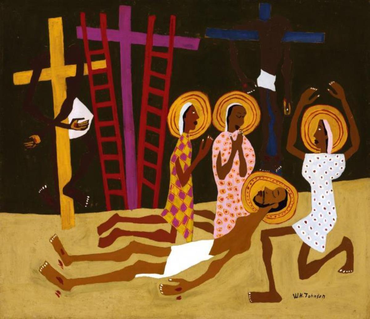 그림, 윌리엄 존슨의 <탄식(Lamentation)>, 스미스소니언 아메리칸 아트뮤지엄.