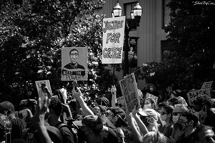 "Protesters march during the ""I Will Breathe"" rally May 30 at Legislative Plaza in Nashville, Tenn. Thousands attended the rally in support of George Floyd, who was killed in Minneapolis by a police officer. Photo by Chanitra Dreher Photography."