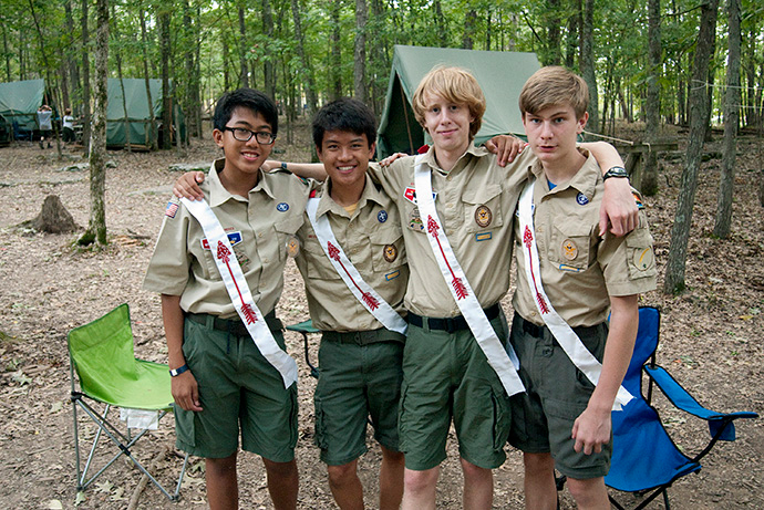 Boy Scouts from Troop 17 in Nashville, Tenn., enjoy time together at Camp Boxwell in Laguardo, Tenn., in 2012. Most scouting programs have postponed or canceled their 2020 summer camps due to COVID-19. File photo by Mike DuBose, UM News.