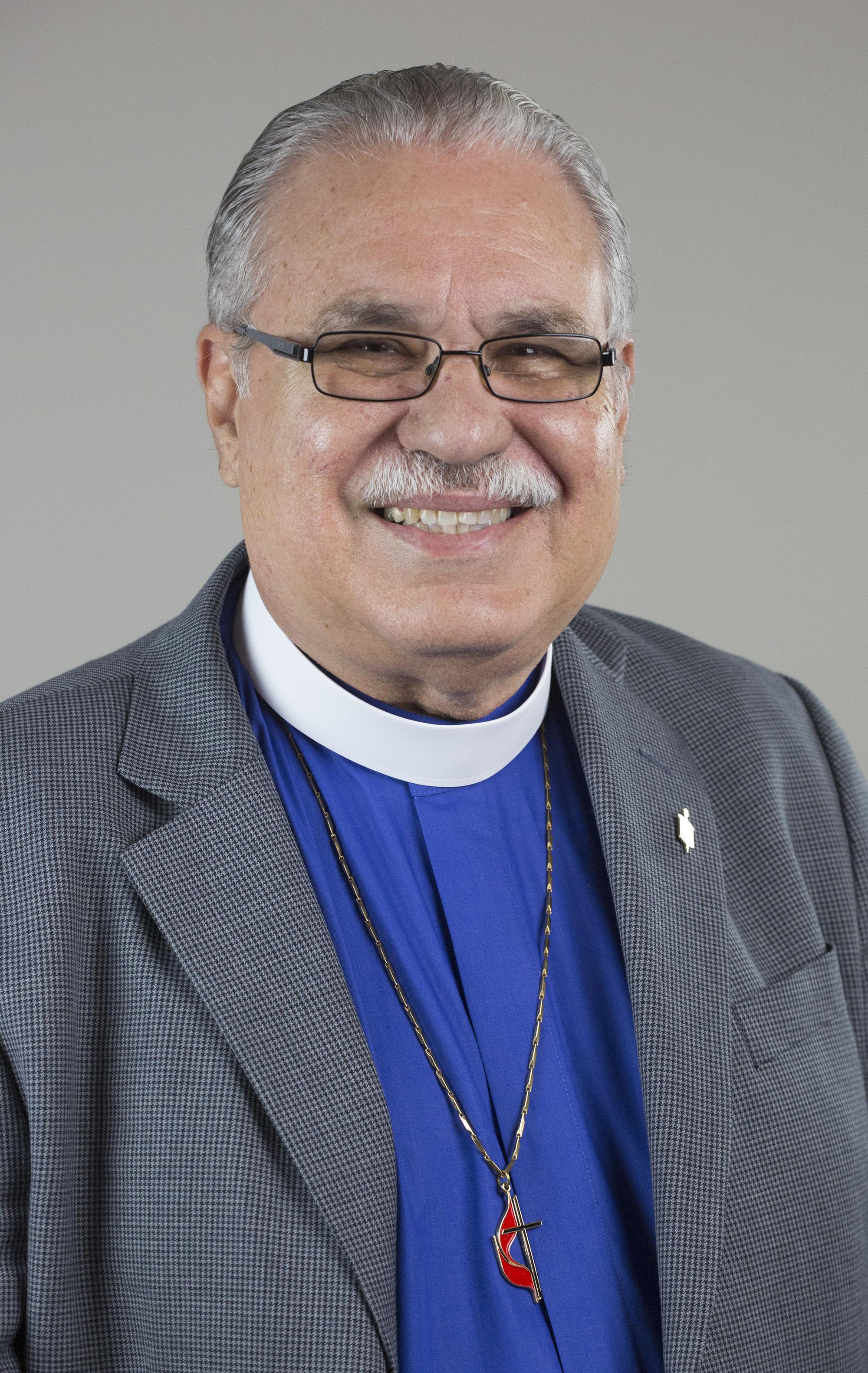 Rev. Hector Ortiz, obispo de la Iglesia Metodista de Puerto Rico. Foto Kathleen Barry, Noticias MU.