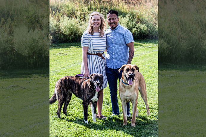 """The Rev. Orlando Gallardo Parra (right), pastor of Drexel United Methodist Church in Drexel, Mo., and a DACA recipient, has been married to his wife, Emily, for four years. """"DACA has made it possible for me to be ordained in the United Methodist Church (and) to get a job as a pastor."""" Photo courtesy of Rev. Gallardo Parra."""