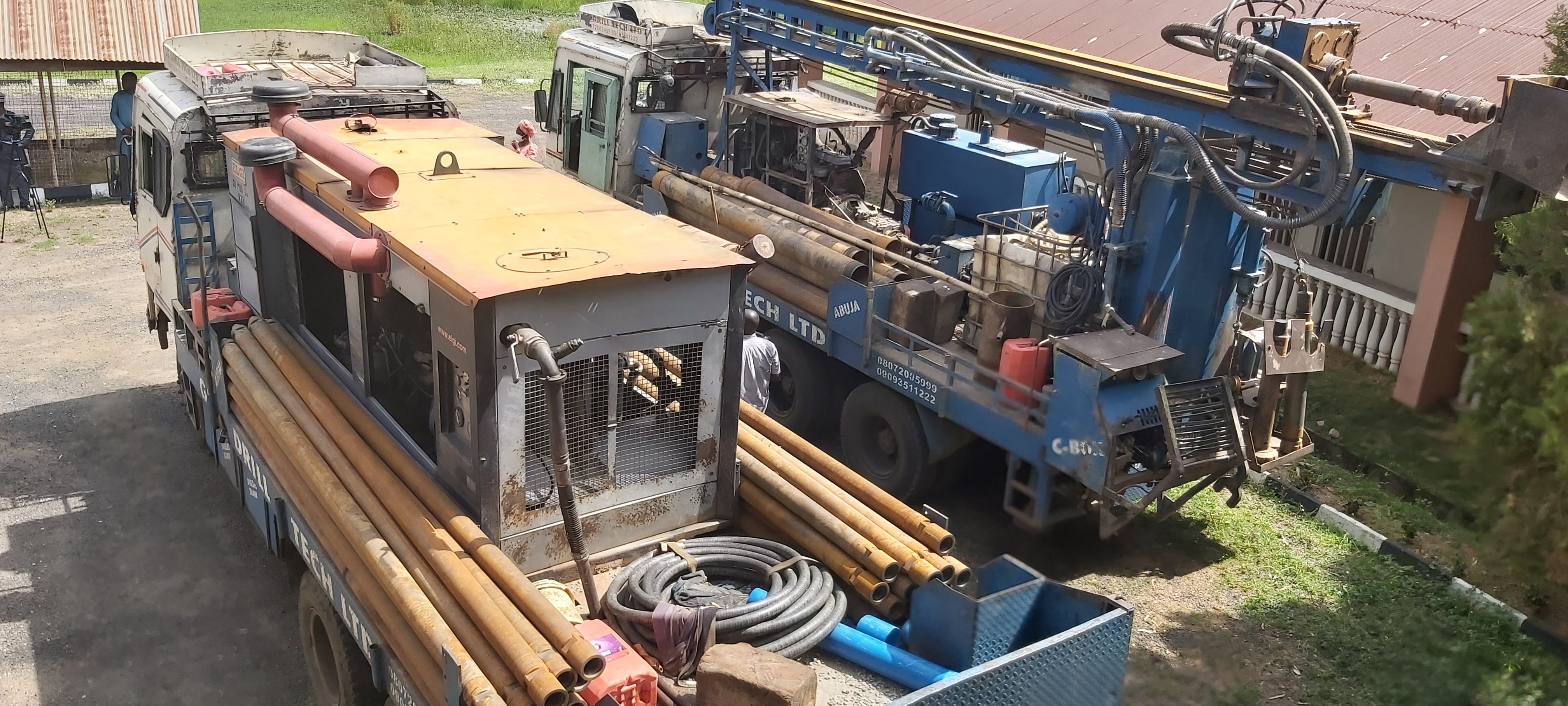 The United Methodist Church in Nigeria purchased a borehole-drilling rig to provide clean water in rural villages. A gift from a United Methodist in Iowa provided the money to purchase the machine. Photo by the Rev. Ande Emmanuel, UM News.