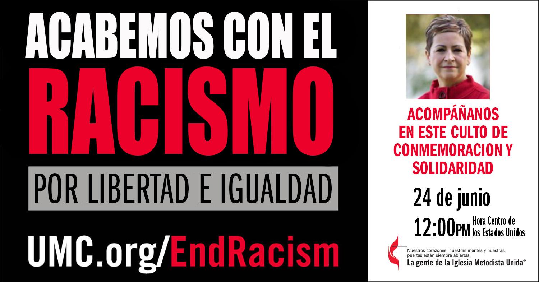 Culto de conmemoración y solidaridad contra el racismo. Versión en español Rev. Gustavo Vasquez, Noticias MU.