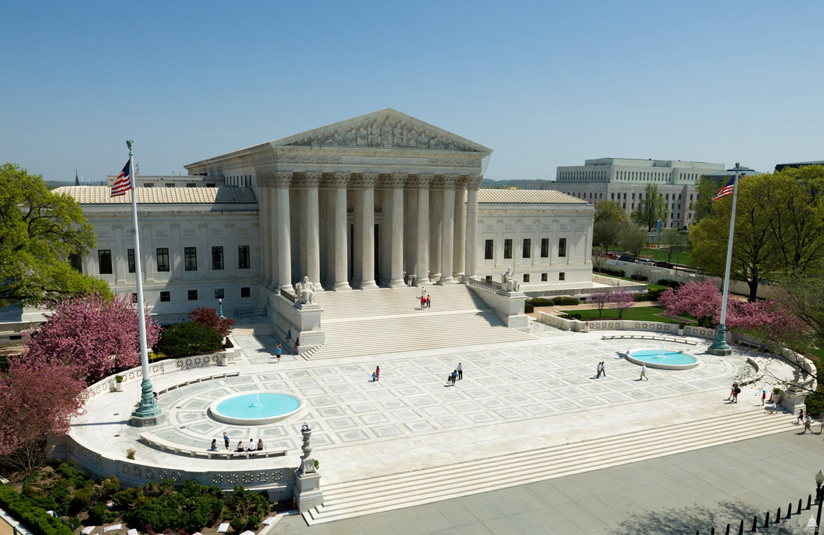 A view of the U.S. Supreme Court, the highest court in the federal judiciary. Native Americans pronounced themselves stunned and happy at a July 9 ruling by the court affirming their jurisdiction over criminal prosecutions of tribe members on reservations in Oklahoma. Photo courtesy of the Architect of the Capitol.