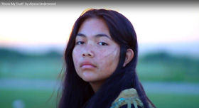 """""""Know My Truth"""" shares a young person's perspective on what it means - and does not mean - to be an indigenous person. Video image courtesy of Alyssa Underwood by UM News."""