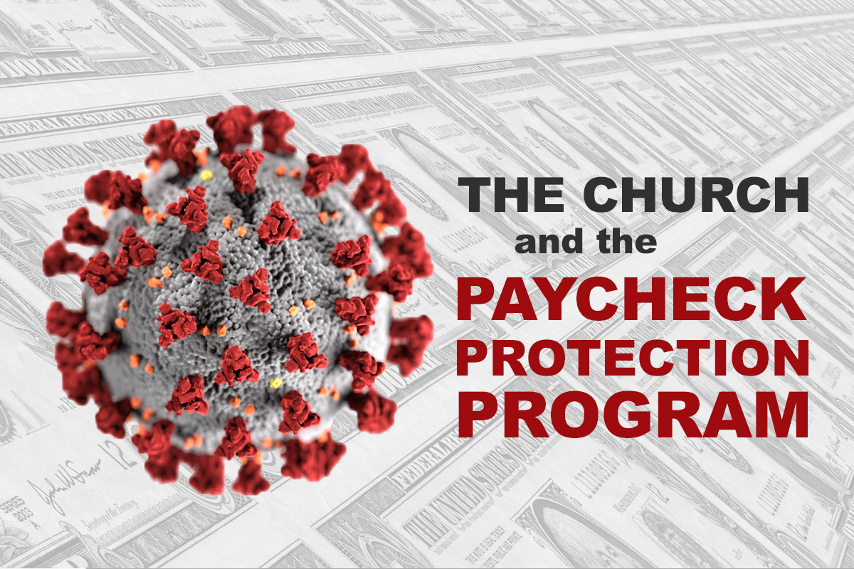 The Paycheck Protection Program is a U.S. government loan program designed to help small businesses and nonprofits keep their workers on the payroll. More than 740 United Methodist entities have received loans of at least $150,000. Coronavirus image courtesy of the Centers for Disease Control and Prevention; money image by Gerd Altmann, courtesy of Pixabay; graphic by Laurens Glass, UM News.