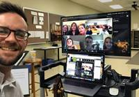 Michael Vaughn, director of music ministry at A&M United Methodist Church in College Station, Texas, has directed and edited virtual choir videos, including with his church's children's choir. United Methodist music ministers are coming up with creative ways to keep music going and keep choir members engaged during the COVID-19 pandemic. Photo courtesy of Michael Vaughn.