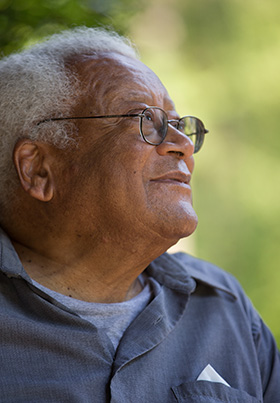 The Rev. James Lawson talks about the early days of the civil rights movement. 2016 file photo by Mike DuBose, UM News.