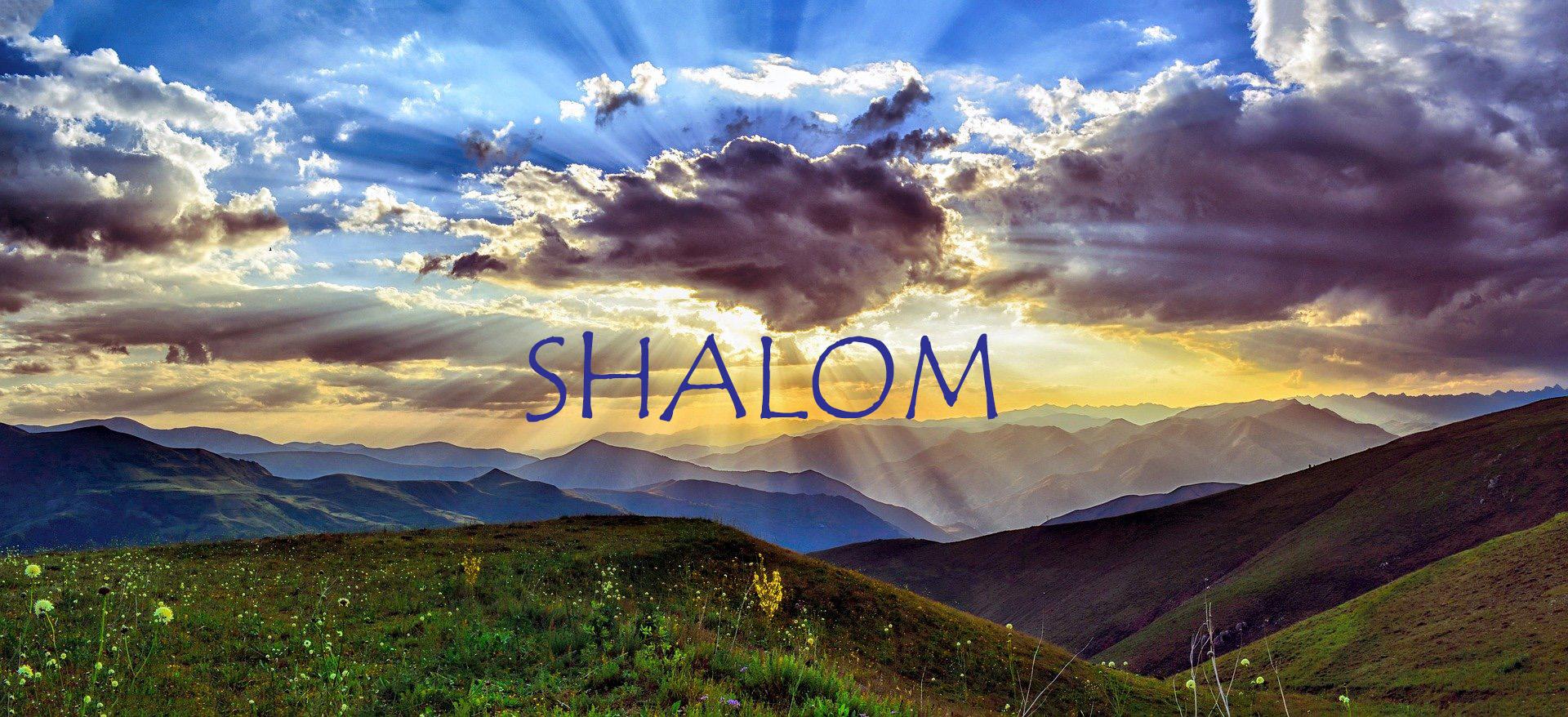 평화를 의미하는 히브리어 샬롬은 인류와 하나님이 지으신 모든 선한 창조물 사이의 조화를 표현하는 말입니다. 사진, 루스투 보즈쿠스의 사진, 픽사베이 제공.