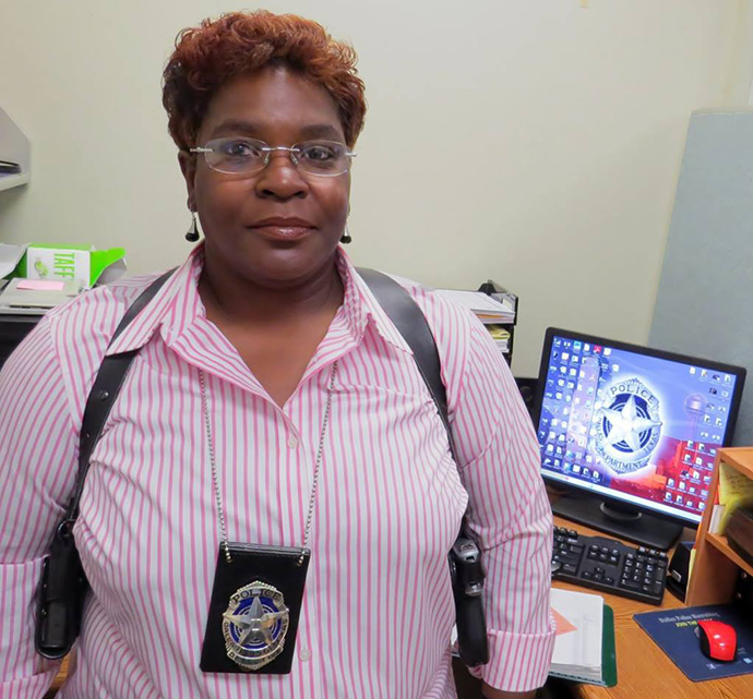 The Rev. Doris Smith is a detective with 31 years of experience on the Dallas police force and pastor of Mt. Zion United Methodist Church in Paris, Texas. 2016 file Photo by Sam Hodges, UM News.
