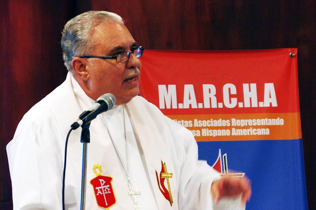 Bispo Hector Ortiz, líder episcopal da Igreja Metodista de Porto Rico. Foto de arquivo do Rev. Gustavo Vasquez, Notícias MU.