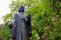 Estatua de John Wesley en Savannah, estado de Georgia. Foto cortesia de Daniel X. O'Neil, Creative Commons.