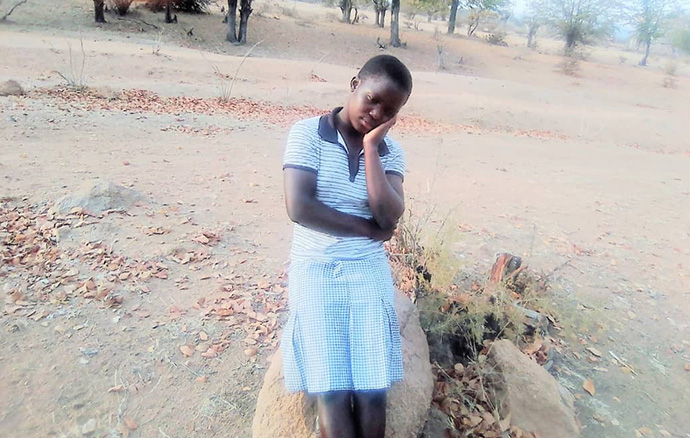 Shyleen Dune, a student at United Methodist Chapanduka Secondary School in Zimbabwe's Marange District, said she is worried about her future as schools remain closed due to COVID-19. Six girls from her school have gotten married since the national lockdown began in March. Photo by Kudzai Chingwe, UM News