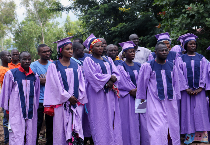 Choir members from the Jalingo Districts Choir sang during groundbreaking ceremonies for a new United Methodist radio station in Jalingo, Nigeria. The plan is for Grace Radio to be on the air in August of 2021. Photo by the Rev. Ande I. Emmanuel, UM News.