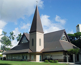 Christ United Methodist Church, Honolulu, Hawaii, was the first Korean Church in America. Photo courtesy of Christ United Methodist Church.