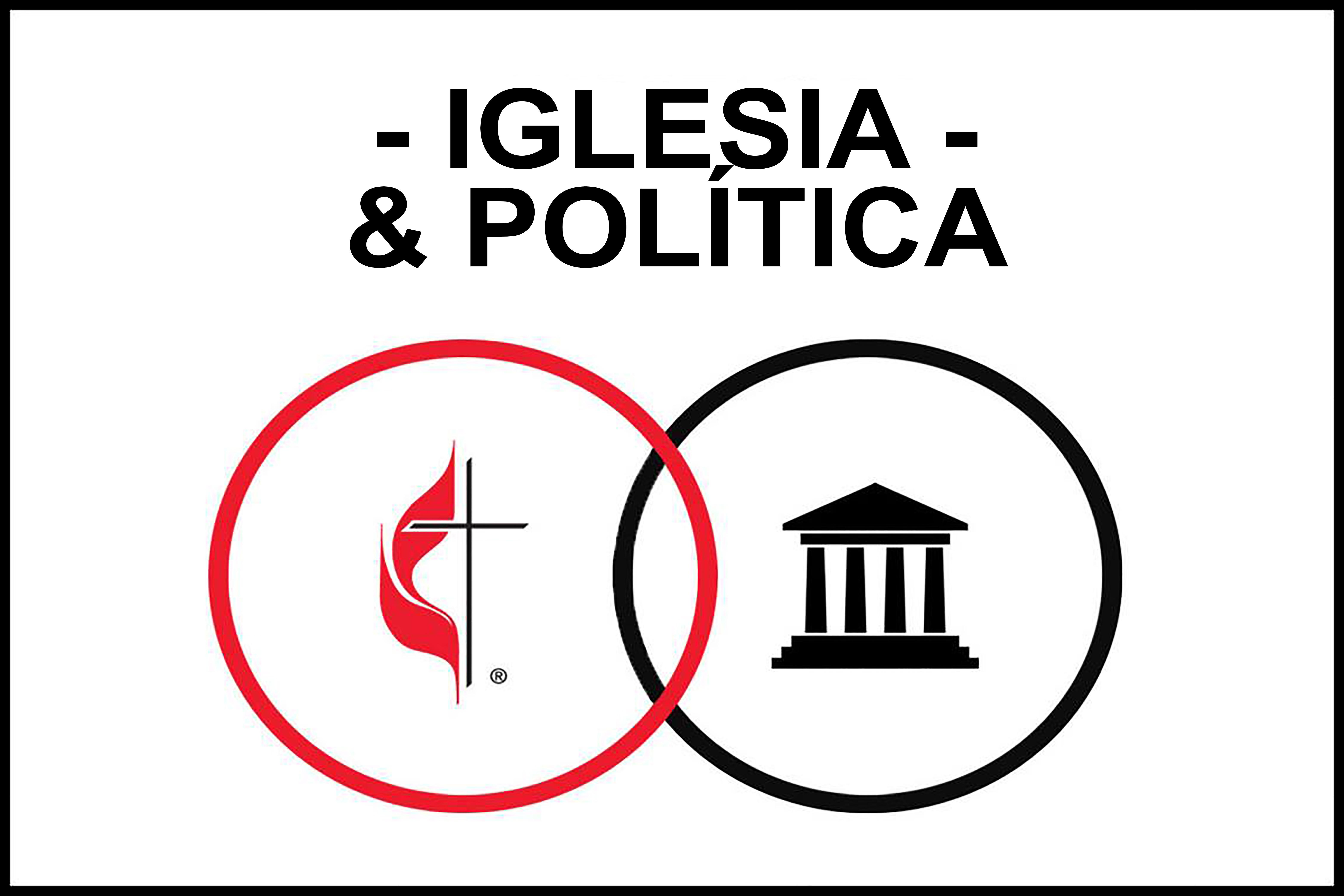 Desde el inicio de la Iglesia, los/as metodistas han participado activamente en asuntos sociales y políticos para construir un mundo más pacífico y justo. Gráfico original de Laurens Glass, UMCOM, Gráfico versión español Rev. Gustavo Vasquez Noticias MU.