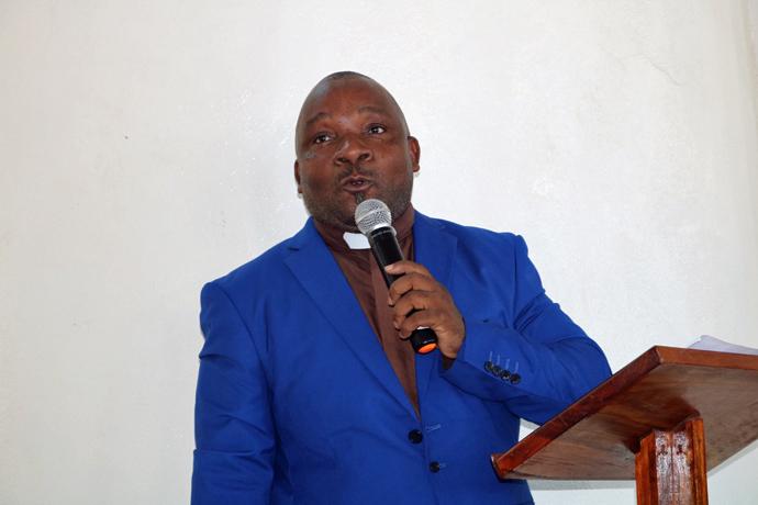 Rev. André Mudungaze, mordomo conferencial de Moçambique Sul e Sudeste. Maputo, Moçambique, Foto de João Sambo, UM News.